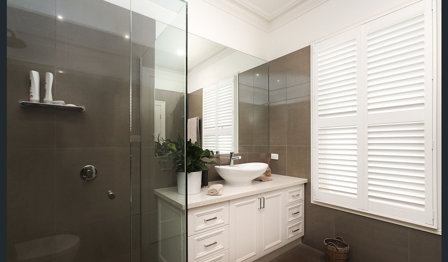 Vogue Shutters In Bathroom Countrywide Window Coverings