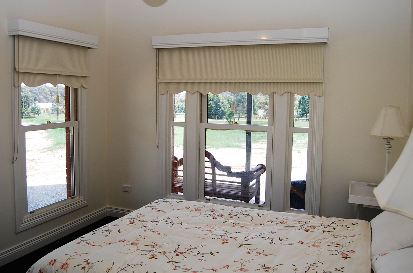Timber Pelmet with Traditional Roller Blinds.JPG
